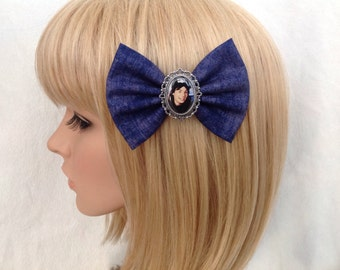 Wayne's World hair bow clip rockabilly psychobilly Garth party on vintage retro cool blue 80s movie kawaii pin up fabric ladies girls women