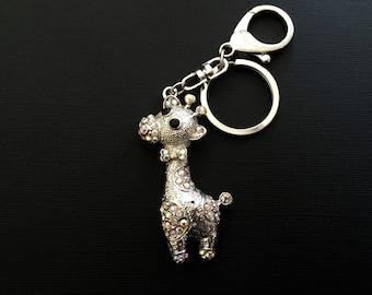 Pink Giraffe keychain