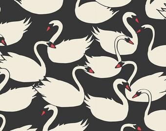 Organic Baby Bedding Crib Bedding - Swan Black and White