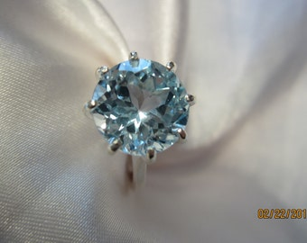 Beaultiful Blue Topaz Sterling Ring