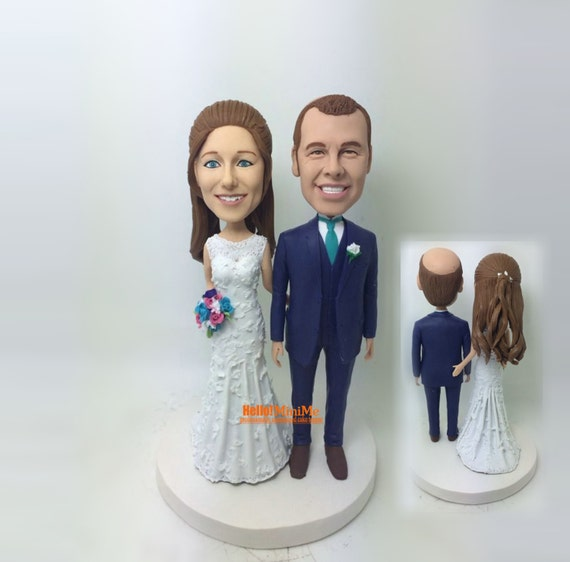 personalized bobblehead wedding cake toppers wedding cake topper bobblehead custom cake topper wedding 6475