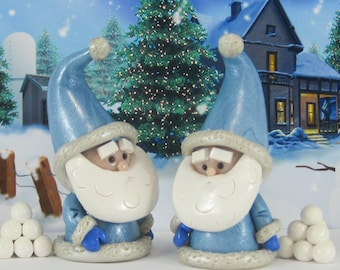Parka Gnome for Winter Wonderland Fairy Garden OOAK handmade miniature