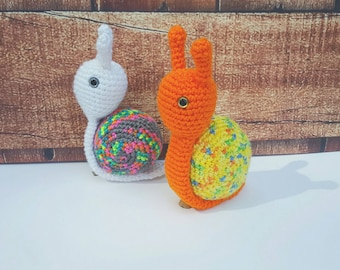 Snail Plush - Snail Amigurumi - Crochet Snail Plush - Gifts Under 25 - Baby Shower Gift - Toddler Toy - Toddler Gift - Unique Gift