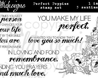 Perfect Poppies Digital Stamp Set
