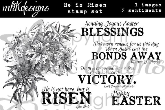 He Is Risen Digital Stamp Set