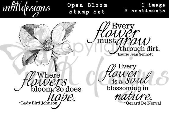 Open Bloom Digital Stamp Set
