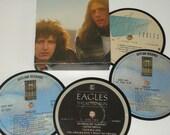 THE EAGLES vinyl record coaster set record label coasters