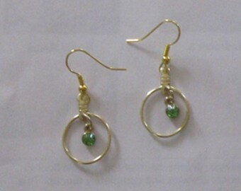 Peridot Green Crystal Earrings