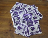 Baby Kansas State - Set of 3 Items: 2 Burp Cloths and 1 Crinkle Toy