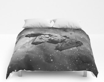 Star Wars Inspired Millennium Falcon Comforter, Han Solo Blanket, Star Wars Comforter, Millennium Falcon Bedding, Star Wars Blanket