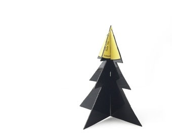 Vinyl Christmas Tree | 3D Standing Decoration | Ornament | Yellow | Centrepiece