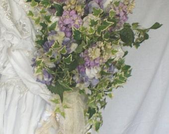 Silk Garden Presentation Style Wedding Bouquet