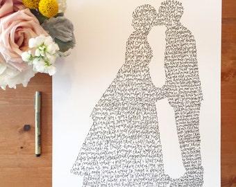 Custom Couple Silhouette Illustration