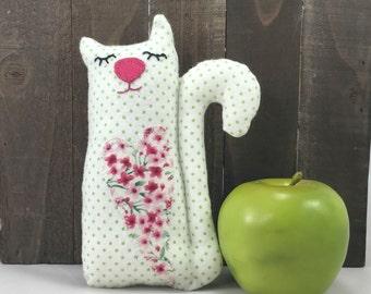 Silly kitty plushie, cat plushie, softie