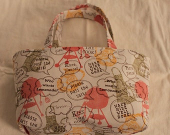Handmade Fat Quarter Tote - Kiss the Cook