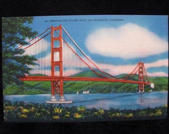 Postcard: Bridging the Golden Gate, San Francisco, California