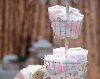 30 Cotton Candy Party Favors with Custom Label