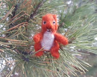 Needle Felted Red Squirrel, Felt Squirrel, Art On A Whimsy, Felted Squirrel Softie