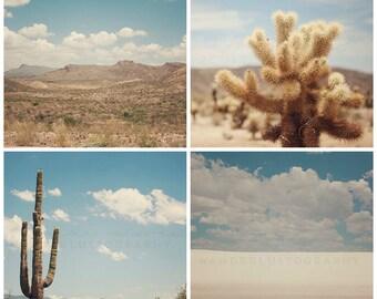 Desert Photography, Southwest, Canvas, Southwestern Art, Landscape Set, Texas, New Mexico, California, Arizona, Saguaro, Cactus, Photography