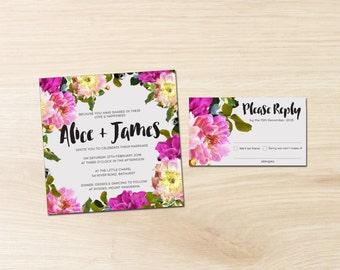 Premium Wedding Invitations - Flourish - Spring Wedding - Flowers