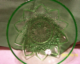 Hazel-Atlas Glassware Green Bowl
