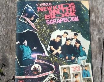 Vintage New Kids On the Block 1990 Official New Kids On the Block Scrapbook UNUSED 13 x 11 Vintage NKOTB 1990s Boy Band 1990s Ephemera