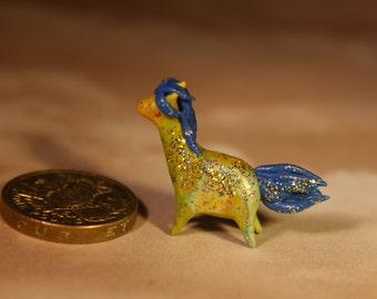 Miniature  clay horse figurine