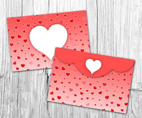 Valentine Envelope Template 4X6 Envelopes Heart Envelope Printable