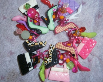 Shopaholic bracelet/ Shoe/ Purse/ Shopping/ Girl/ beadiebracelet