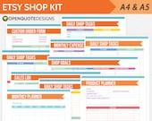 Etsy Business Kit, Etsy Planner Printables, Filofax A5, Filofax Inserts
