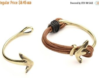 30% OFF Half Bracelet/Cuff Anchor 54x4mm - Antique Brass - High Quality Metal Casting Qty. 1  HC-4491AB