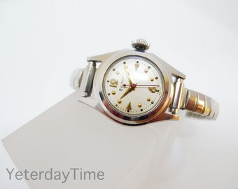 Lady Bulova Ladies Watch 1957 Swiss 17 Jewel Manual Movement Stainless Steel Case