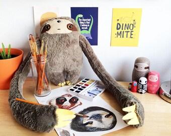 Cosmic Ginge Handmade Three Toed Sloth Sloths Plush Plushy