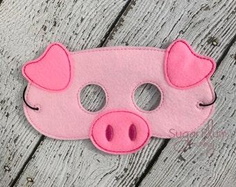 Pig Mask, Children's Felt Pig Mask, Farm Mask