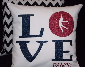 Girls who LOVE DANCE will LOVE this pillow - Printed Entirely In Non Flaking Glitter