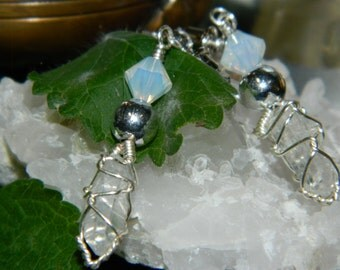 Quartz shard earrings