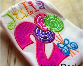 Personalized Lollipop Birthday Shirt
