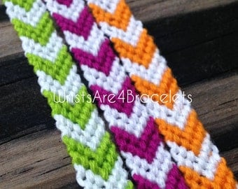 Custom Chevron Friendship Bracelet - Choose Your Own Colors