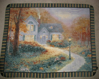 Thomas Kinkade Blessing of Autumn Panel Fleece Throw Blanket