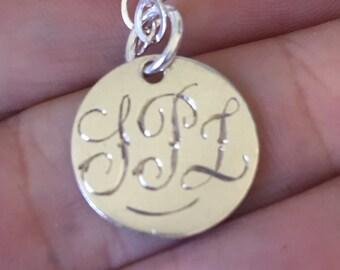 Antique Love Token Initials Puzzle Name T P L  TPL Victorian Fob Pendant   #CELESTEANDCOGEMS