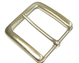 "Heel Bar Buckle 1-1/2"" Nickel Plated Belt Buckle 1550-02"