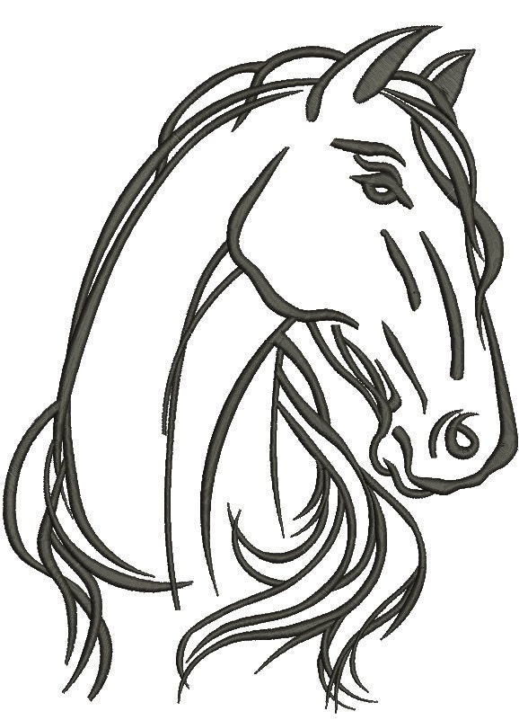 A Horse39s Head Machine Embroidery Design
