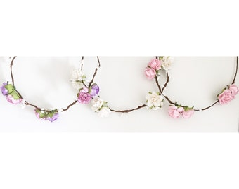 Simple floral crowns for weddings