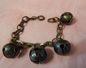 Antique Silver Bell Bracelet