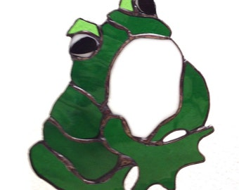 Frederick the Frog - Stained Glass Suncatcher
