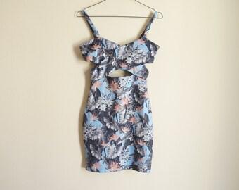 Floral Cross Front Dress Topshop Petite