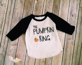 The Pumpkin King, Raglan, Halloween Shirt, baseball tee