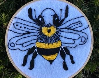 Bee Embroidery Hoop