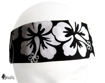 Black and White Headband Hawaiian Tropics by Sheylily