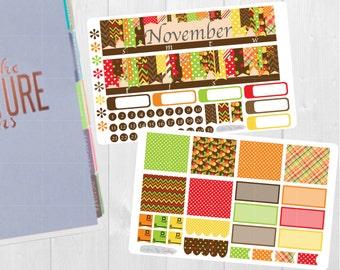 November Monthly Sticker Set - Monthly Planner Stickers, Monthly Planner Kit, November Monthly Kit, for use with ERIN CONDREN LifePlanner
